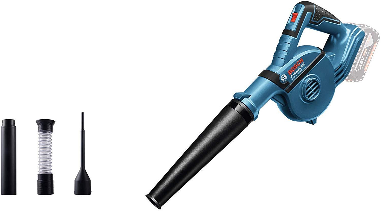 Bosch Professional Souffleur Sans-Fil GBL 18V-120 (18 V, 270 KM/H, 4 access: suceur, rallonge, suceur pour trou profond, tube de collecte des poussiè...